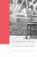 The Matter of Capital