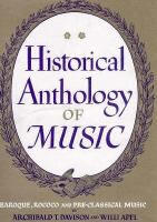 Historical Anthology Of Music