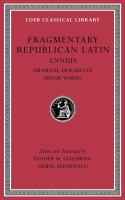 Fragmentary Republican Latin