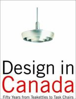 Design in Canada Since 1945
