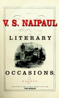 Literary Occasions