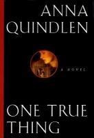 Cover Image - One True Thing