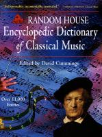 Random House Encyclopedic Dictionary of Classical Music