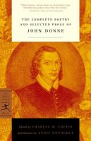 The Complete Poetry & Selected Prose of John Donne