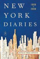 New York Diaries, 1609 to 2009