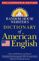 Random House Webster's Dictionary of American English