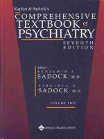 Kaplan & Sadock's Comprehensive Textbook of Psychiatry