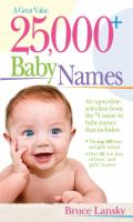 25,000+ Baby Names