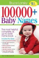 100,000 Plus Baby Names