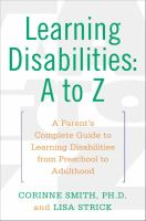 Learning Disabilities-- A To Z