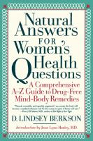 Natural Answers for Women's Health Questions