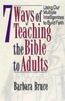 7 Ways of Teaching the Bible to Adults