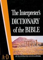 The Interpreter's Dictionary of the Bible