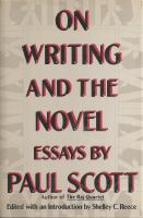 On Writing and the Novel