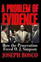 A Problem of Evidence