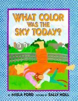 What Color Was the Sky Today?