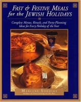 Fast & Festive Meals for the Jewish Holidays
