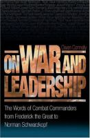 On War and Leadership