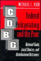 Federal Policymaking and the Poor