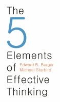 The 5 Elements of Effective Thinking