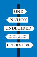 One Nation Undecided: Clear Thinking About Five Hard Issues That Divide Us