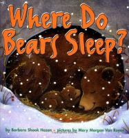 Where Do Bears Sleep?