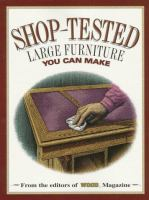 Shop-tested Large Furniture You Can Make
