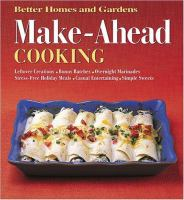 Make-ahead Cooking