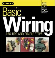 Stanley Basic Wiring