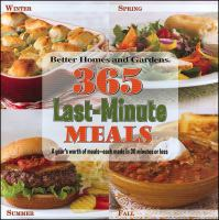 365 Last-minute Meals