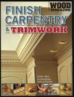 Finish Carpentry & Trimwork