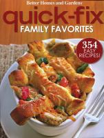 Quick-fix Family Favorites
