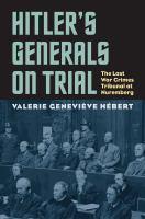 Hitler's Generals on Trial