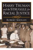 Harry Truman and the Struggle for Racial Justice
