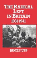 The Radical Left in Britain, 1931-1941