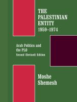 The Palestinian Entity, 1959-1974