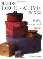 Making Decorative Boxes