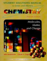 Student Solutions Manual for Jones and Atkins's Chemistry