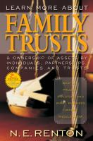 Learn More About Family Trusts & Ownership of Assets by Individuals, Partnerships, Companies and Trusts