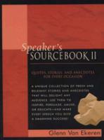 Speaker's Sourcebook