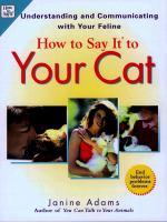 How to Say It to your Cat