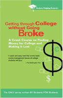 Getting Through College Without Going Broke