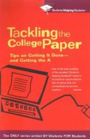 Tackling the College Paper