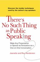 There's No Such Thing as Public Speaking
