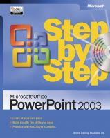 Microsoft Office PowerPoint 2003 Step by Step