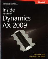 Inside Microsoft Dynamics AX 2009