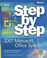 Step by Step 2007 Microsoft Office System