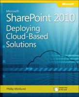 Deploying Cloud-based Microsoft SharePoint 2010 Solutions