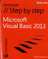 Microsoft Visual Basic 2013 Step by Step