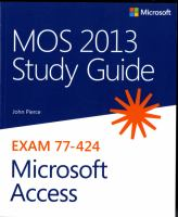 MOS Study Guide 2013 for Microsoft Access